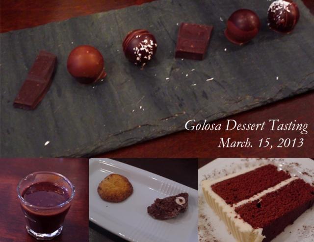 Golosa dessert tasting